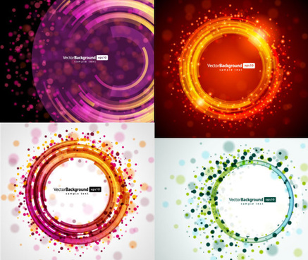 circular light background vector