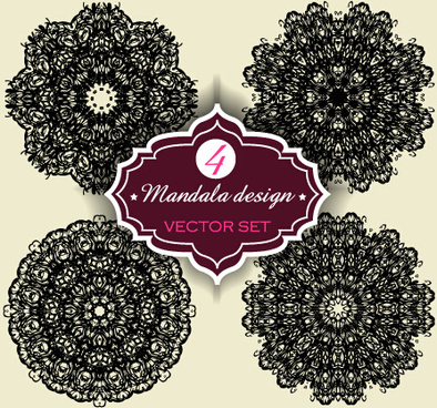 circular mandalas design vector