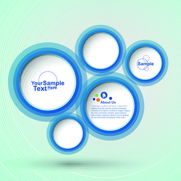 circular speech bubble for you text design vector