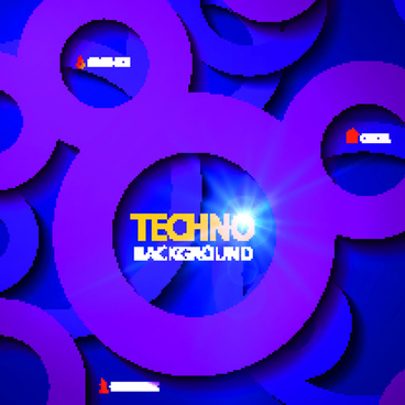 circular tech vector background art