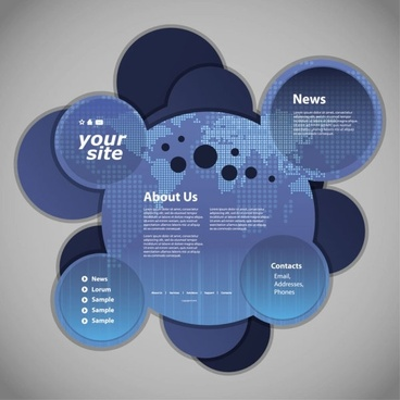 circular web template 03 vector