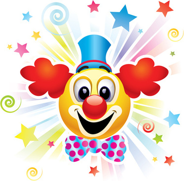 circus clown poster background vector