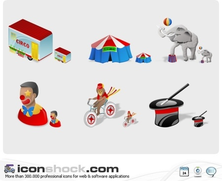 Circus Icons icons pack