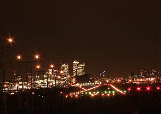 city airport night