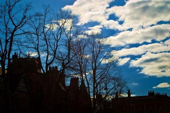 city and blue sky