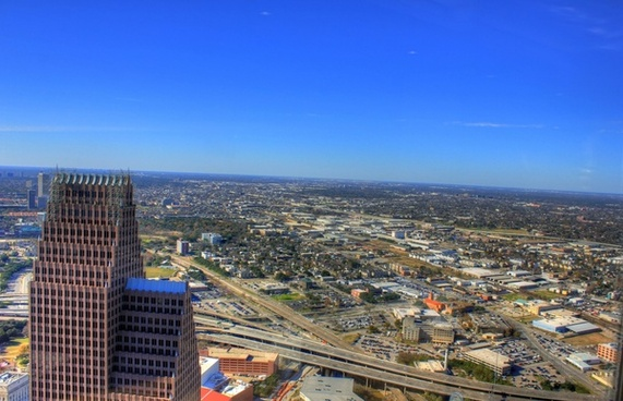 city below in houston texas