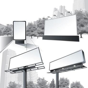 city billboards creative design vector graphics