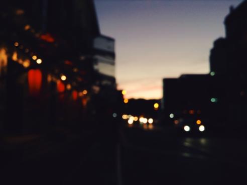 city blur