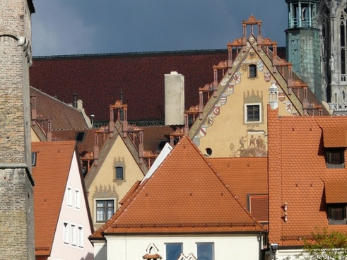 city building roofs