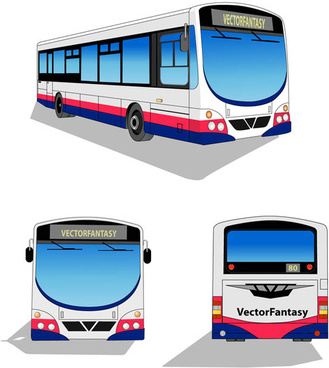 city bus free vector