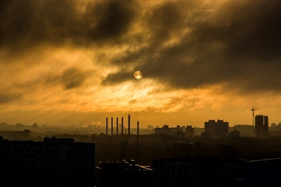 city cloud dark dusk evening landscape light nature