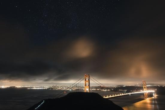 city dark evening exposure landscape light