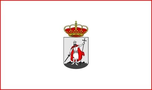 City Flag Of Gijon, Asturies, Spain clip art