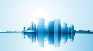 city highrise buildings reflection vector