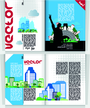 city magazine cover vector