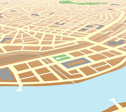 city map design elements vector