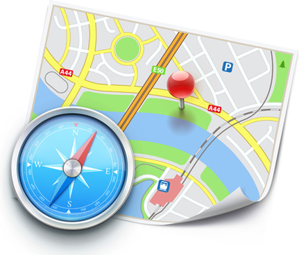 city map gps vectro