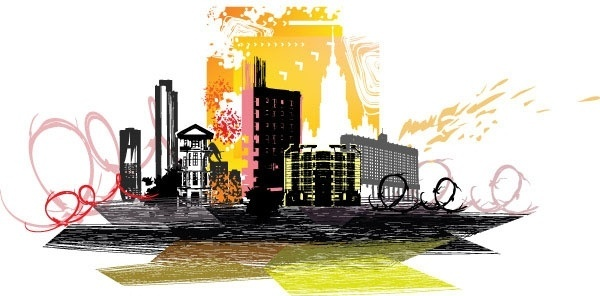 city silhouette 02 vector