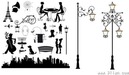 city street design elements classical silhouettes decor