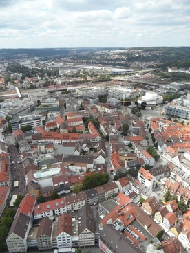 city ulm from above