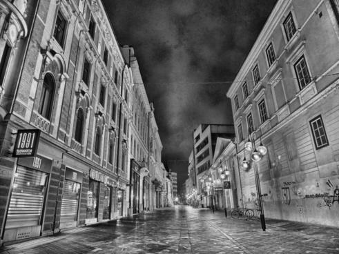 city urban night