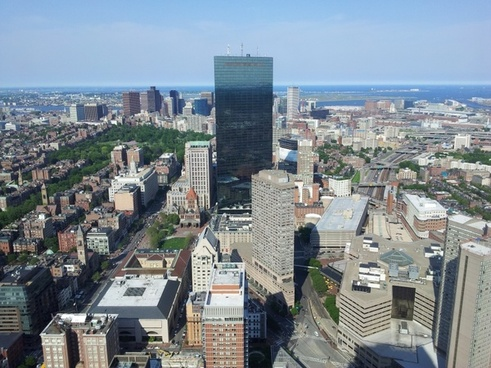 city view buildings boston