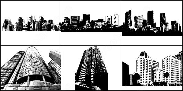 cityscape and skyline brush