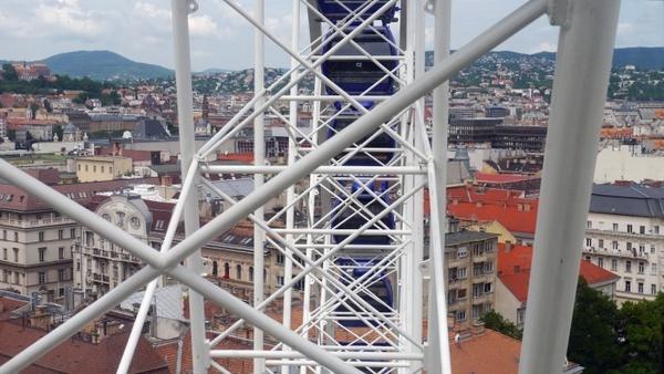 cityscape budapest giant ferris wheel