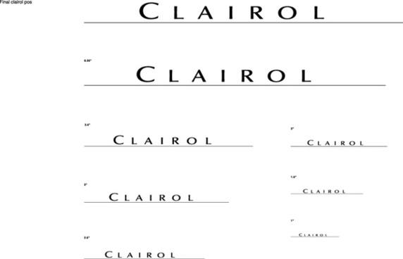 Clairol Logo logo