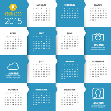 classic15 calendar vector design set