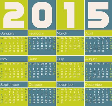 classic15 calendar vector design set