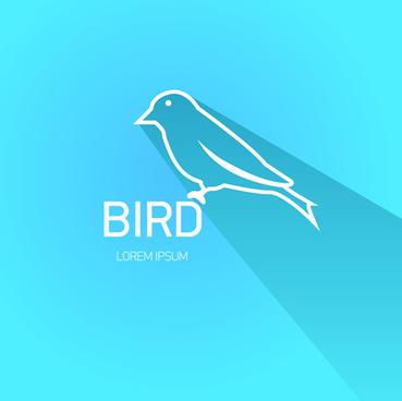 classic bird logo design elements vector