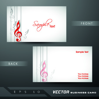 classic business cards design vector