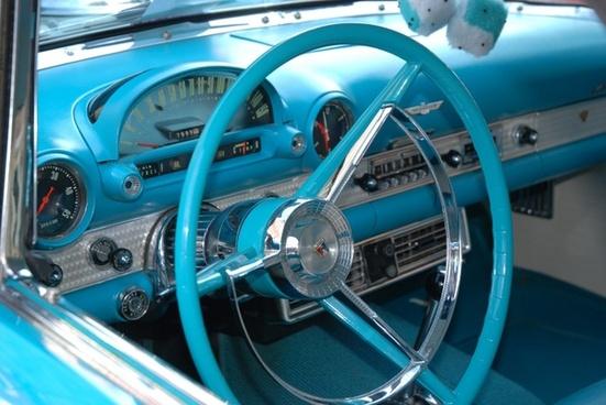 classic car blue classic