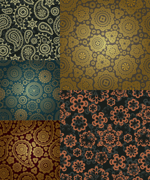 classic decorative pattern background design vector
