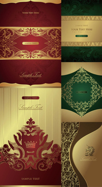 classic decorative pattern background vector graphic