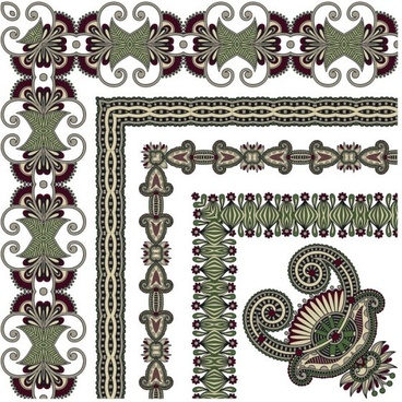 classic decorative patterns elements 03 vector