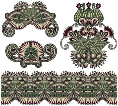 classic decorative patterns elements 04 vector