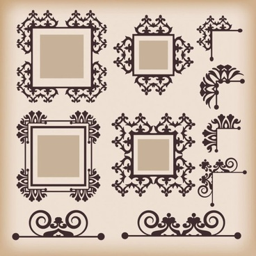 classic european pattern 09 vector