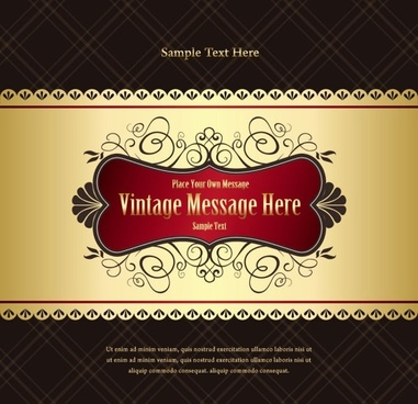 classic european pattern background 01 vector