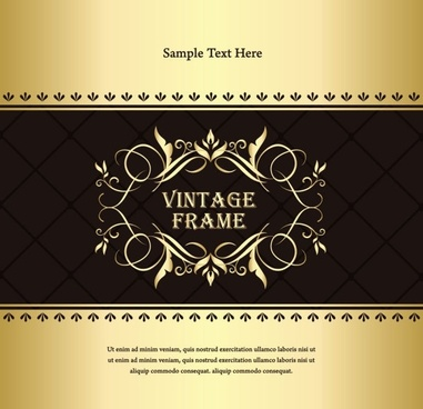 classic european pattern background 02 vector