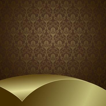 decorative background shiny elegant pattern 3d curled decor
