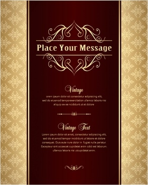 cover background template luxury european decor vintage symmetry