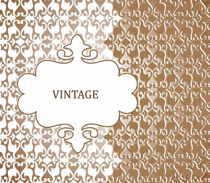 classic european pattern background vector