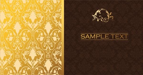 menu cover templates elegant european dark bright design
