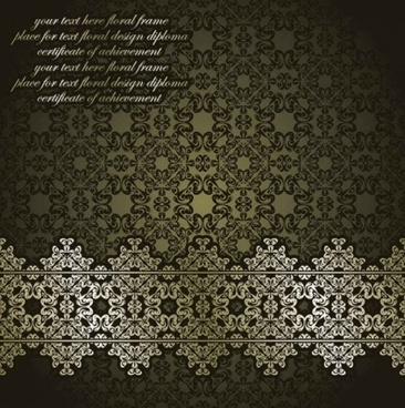 classic european pattern background vectors