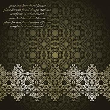 classic european pattern background vectors