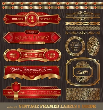 label elements templates luxury classic european design