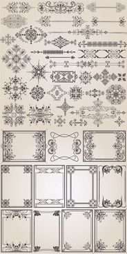 classic european pattern vector