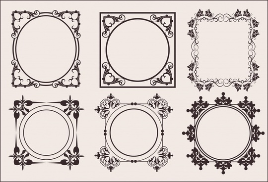 border templates elegant classical european symmetric decor